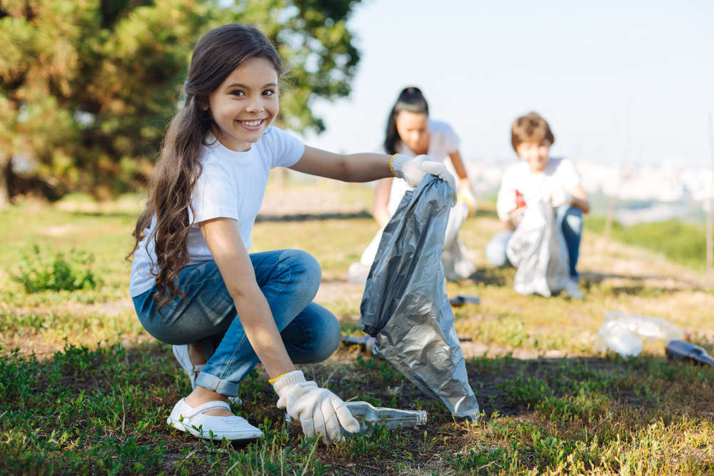 Los niños de hoy desempeñarán un papel trascendental en la lucha contra la degradación de la Tierra en el futuro